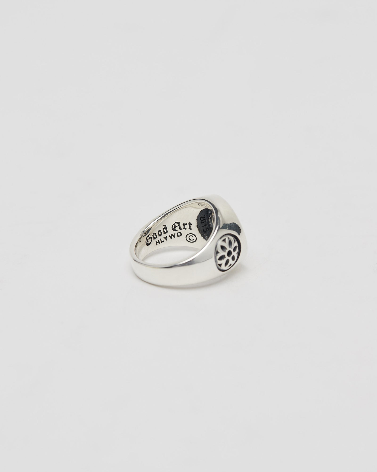 Club Ring, Small, Sterling