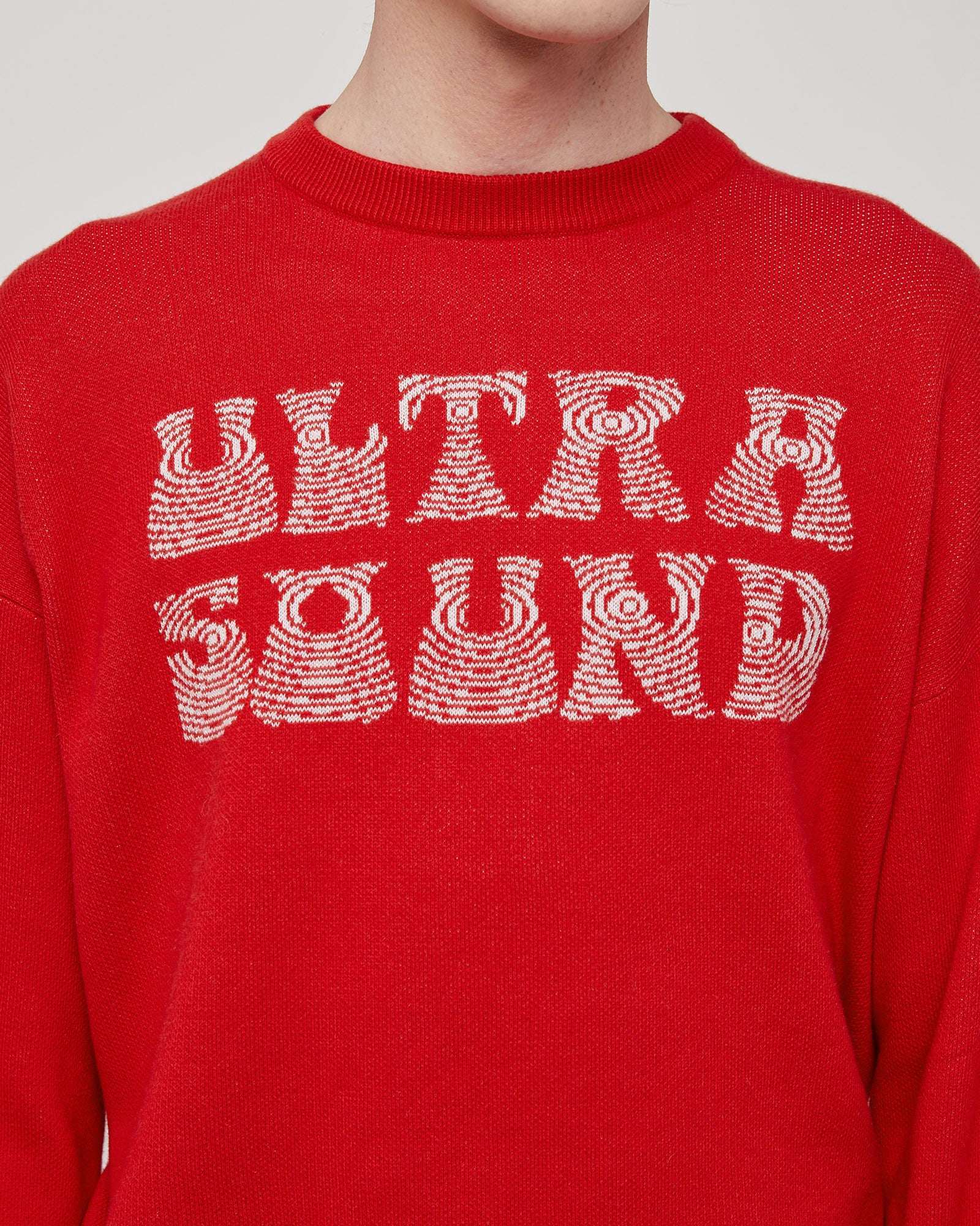 Ultra Sound Sweater in Red