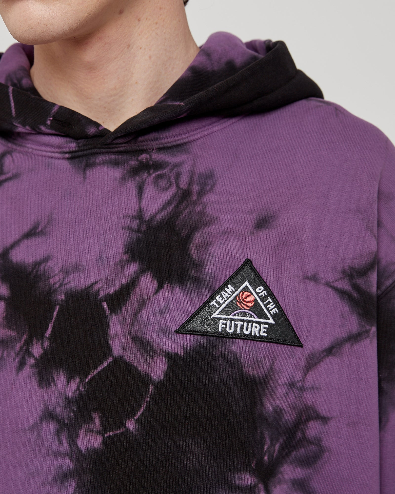 Team Of The Future Hoodie in Black & Fuchsia