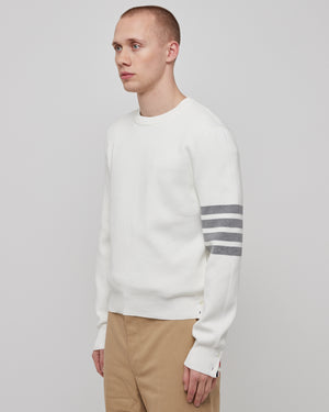 Milano Stitch Crewneck in White