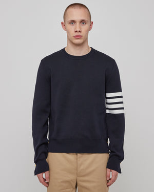 Milano Stitch Crewneck in Navy