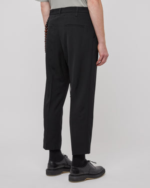 Pleated Taper Pant in Black