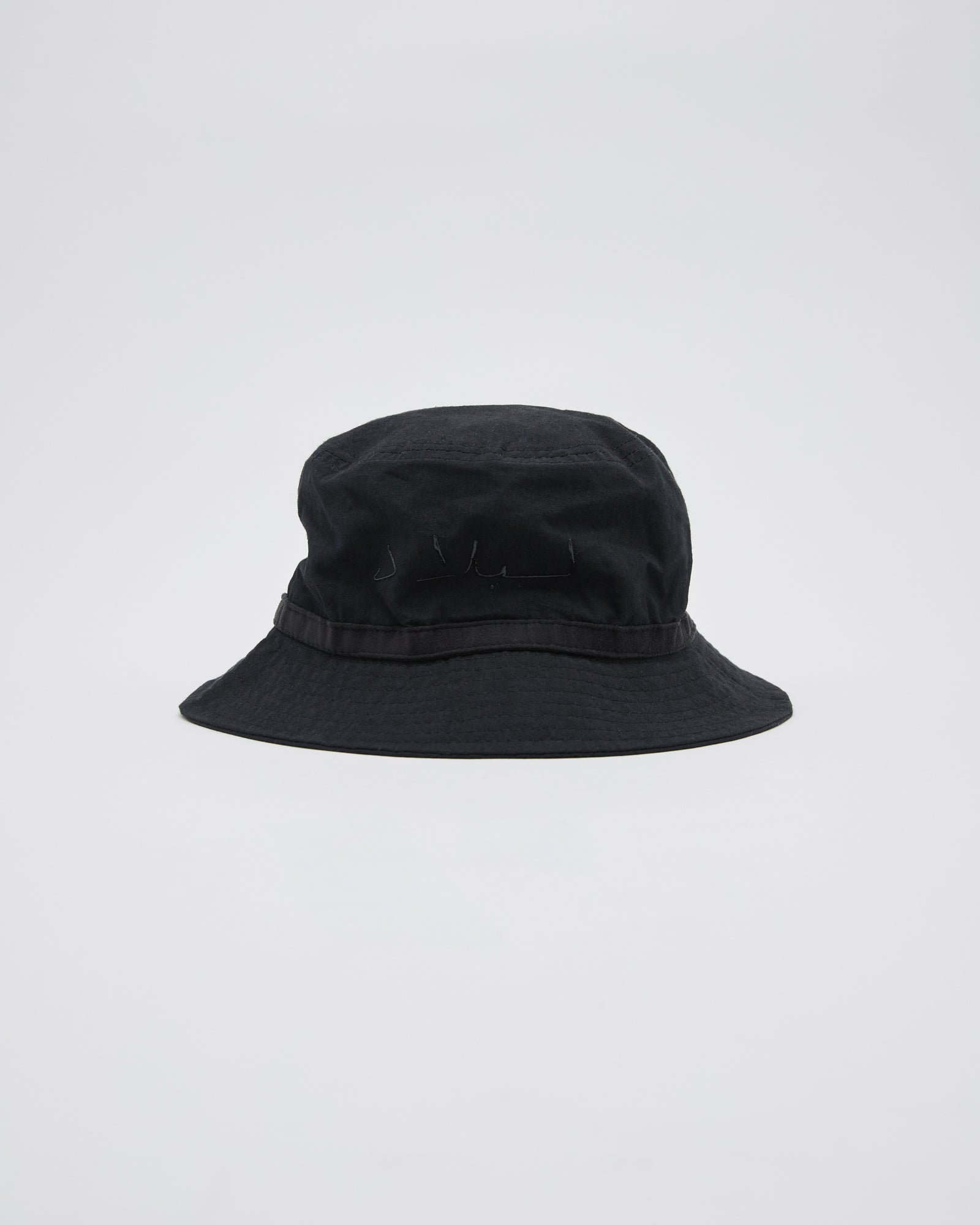 Script Bucket Hat in Black