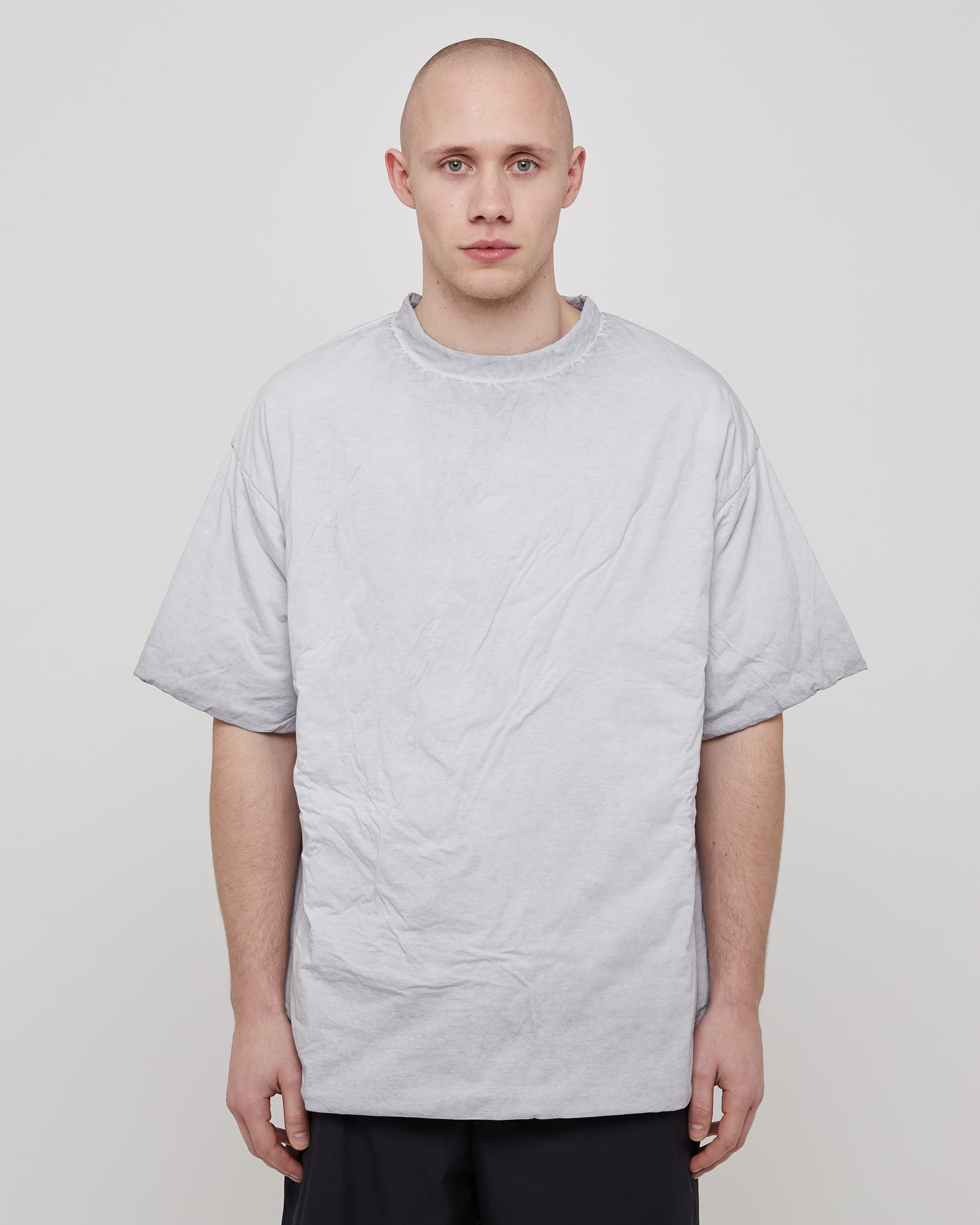 Resin Padded T-Shirt in Mist