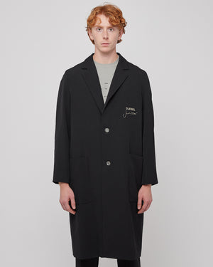 Bicyclette Raglan Coat in Black