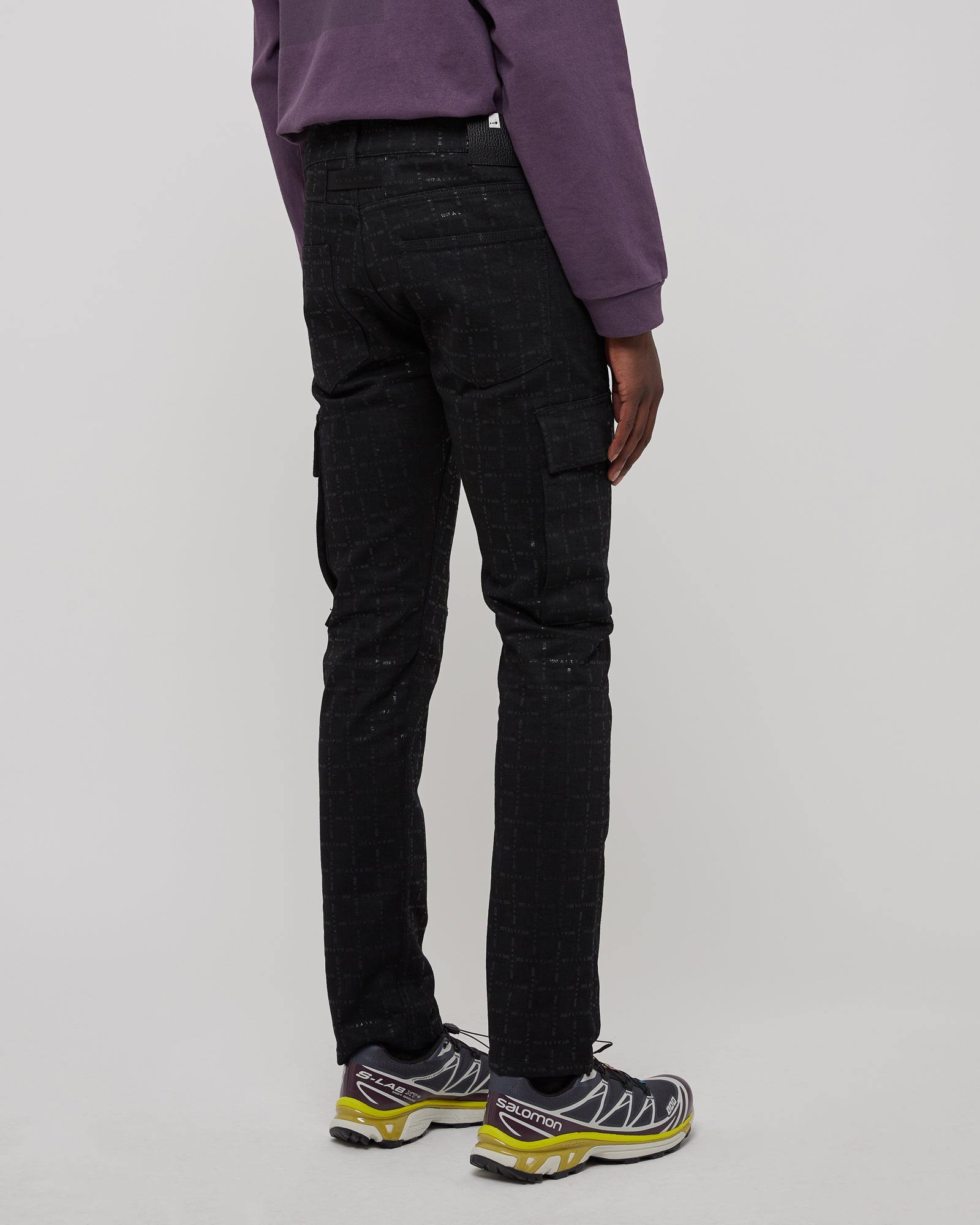 Cargo Logo Denim Pant in Black