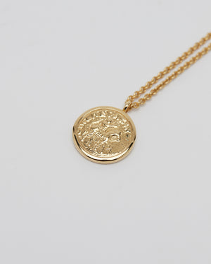 Coin Pendant in Gold 18 in