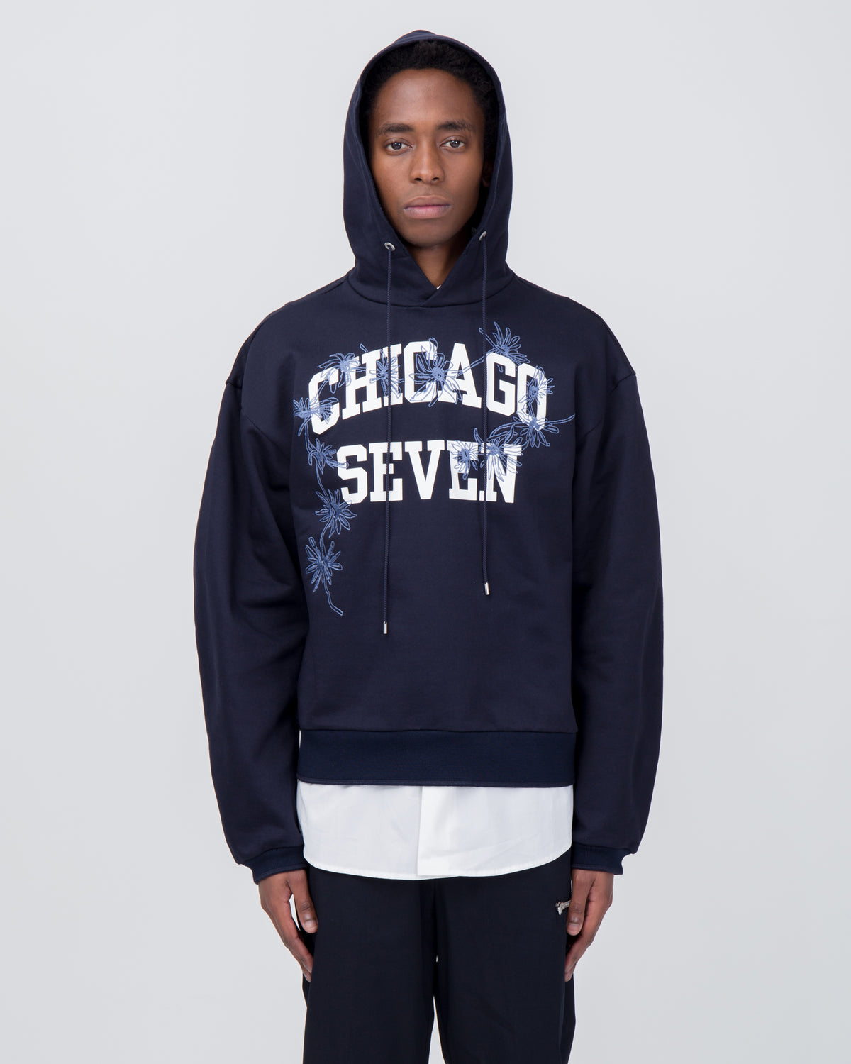 Chicago Seven Hoodie in Midnight Blue