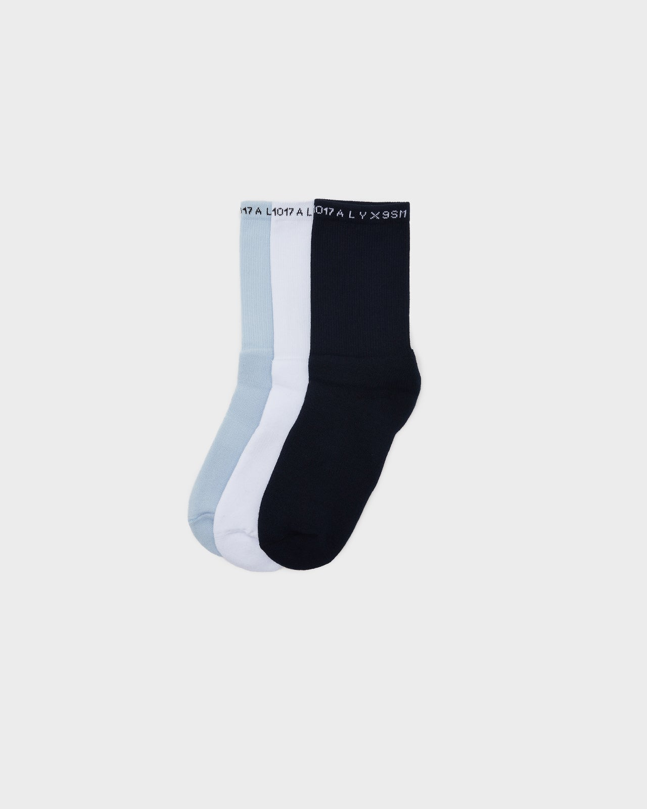3 Pack of Socks in Light Blue, Blue, White