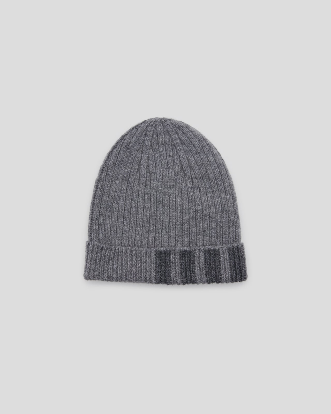 2X1 Rib Hat With 4-Bar in Gray