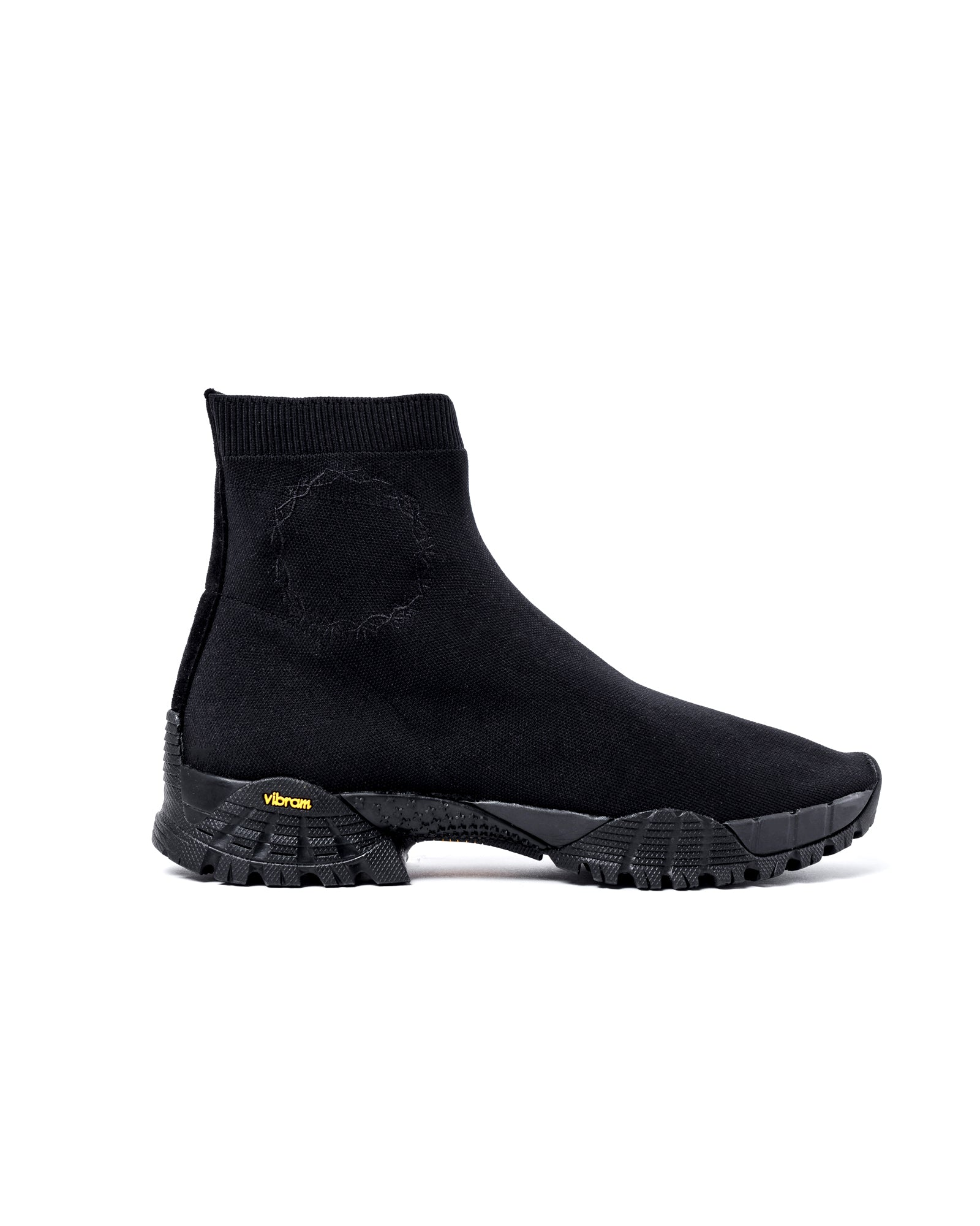 Knit Hiking Boot in Black
