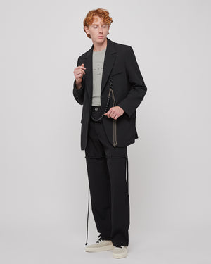 Script Oversized Blazer in Black