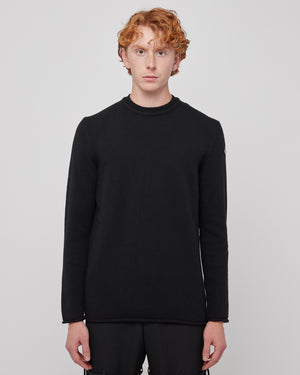 Girocollo Tricot Sweater in Black