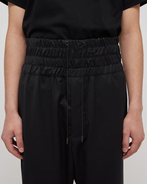 Lounge Drawstring Pant in Black