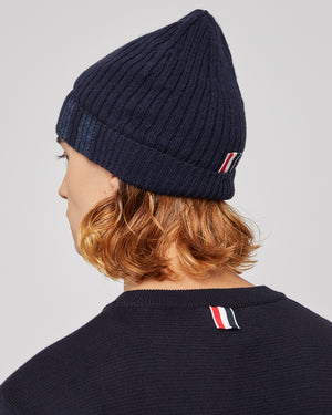 2X1 Rib Hat With 4-Bar in Navy