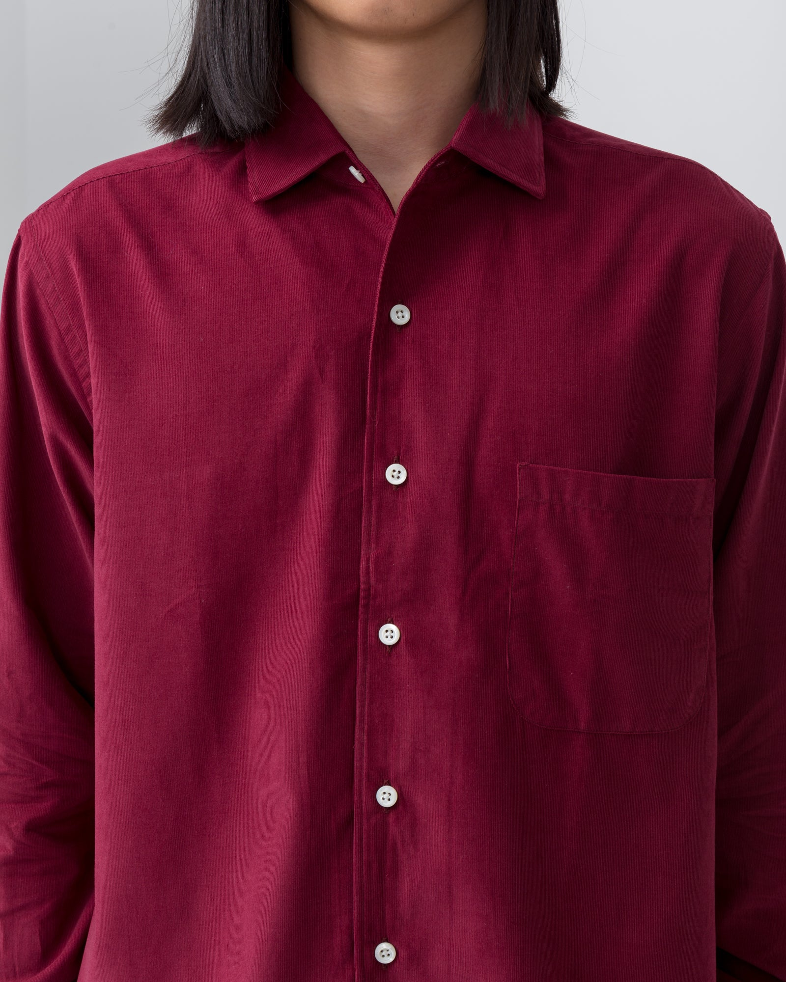 Replica Shirt in Crimson Micro Cord