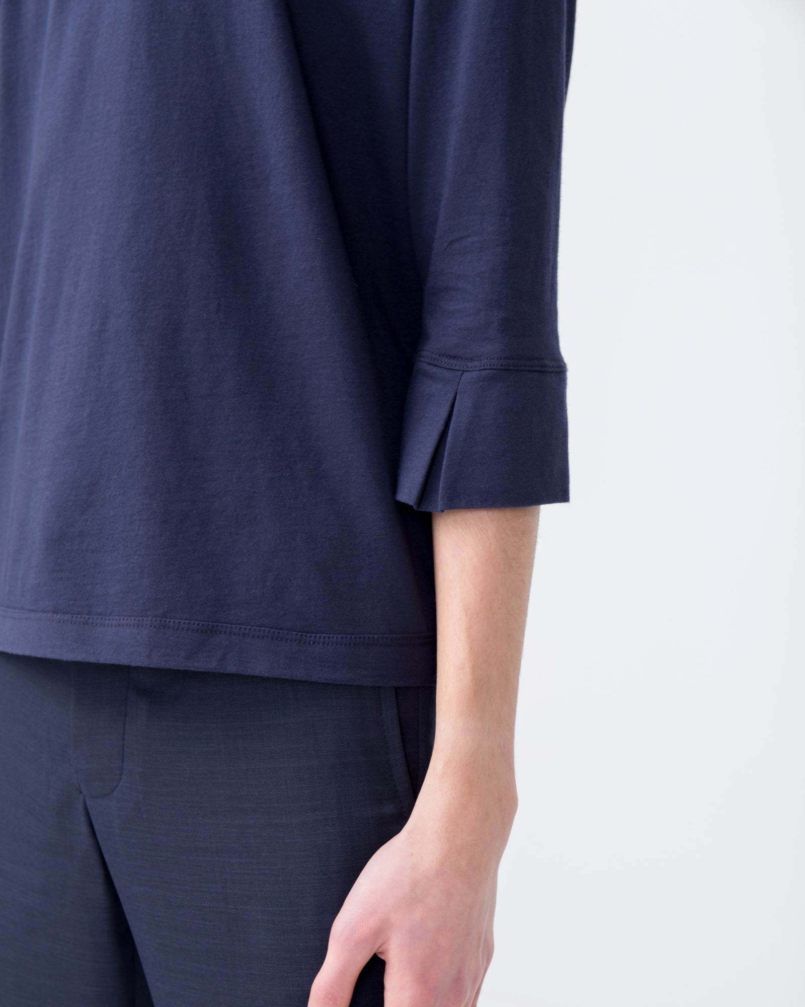 False Cuff Tee in Navy