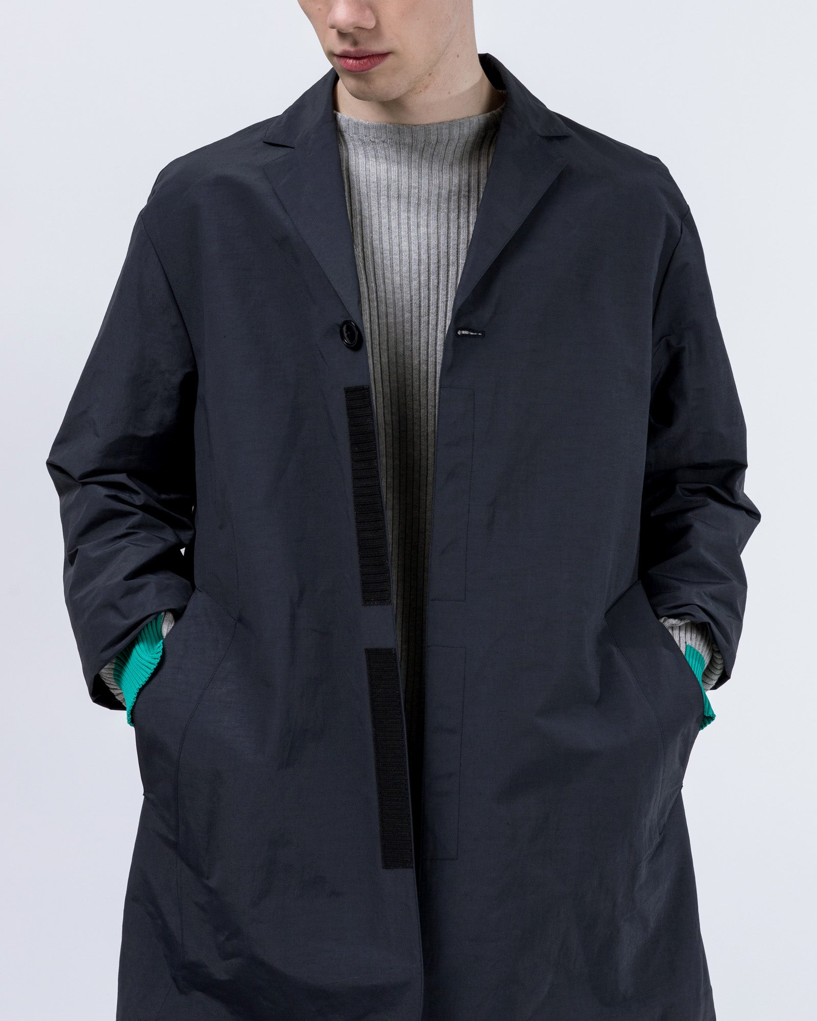 Neue Overcoat in Dark Blue