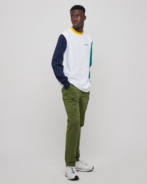 Slim Cargo Chino Pant in Olive