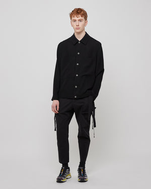Kick Cropped Cargo Pant in Black