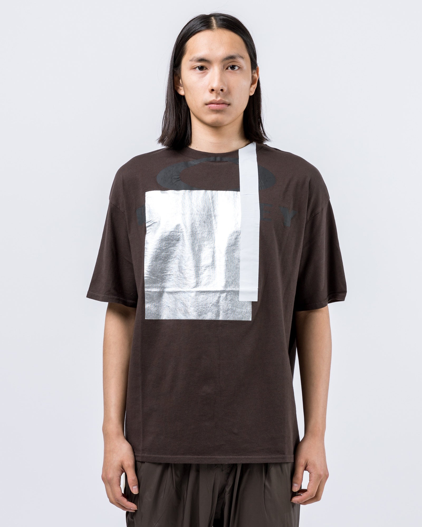 Multifabric T-Shirt in Brown