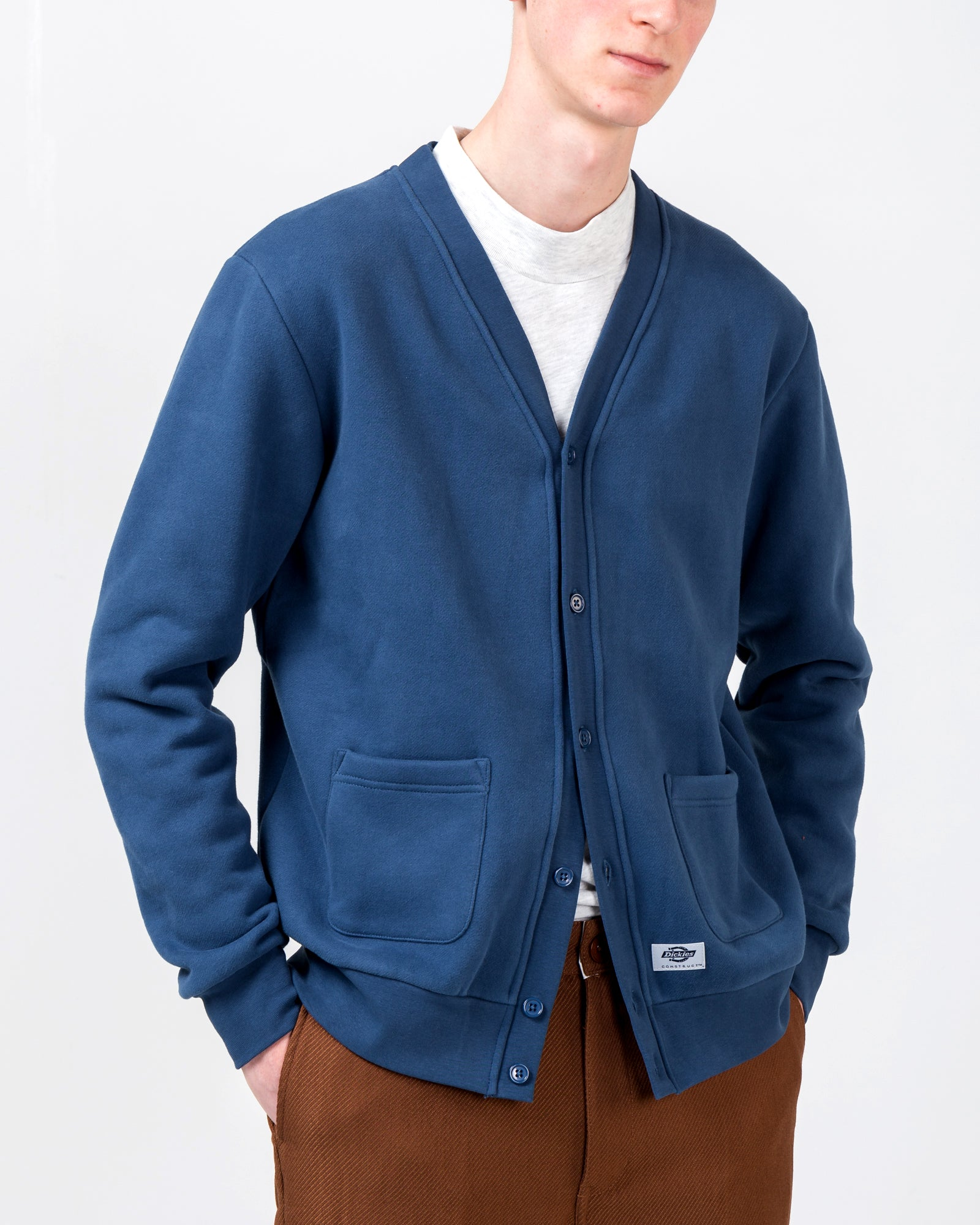 Cardigan in Slate Blue | Dickies Construct