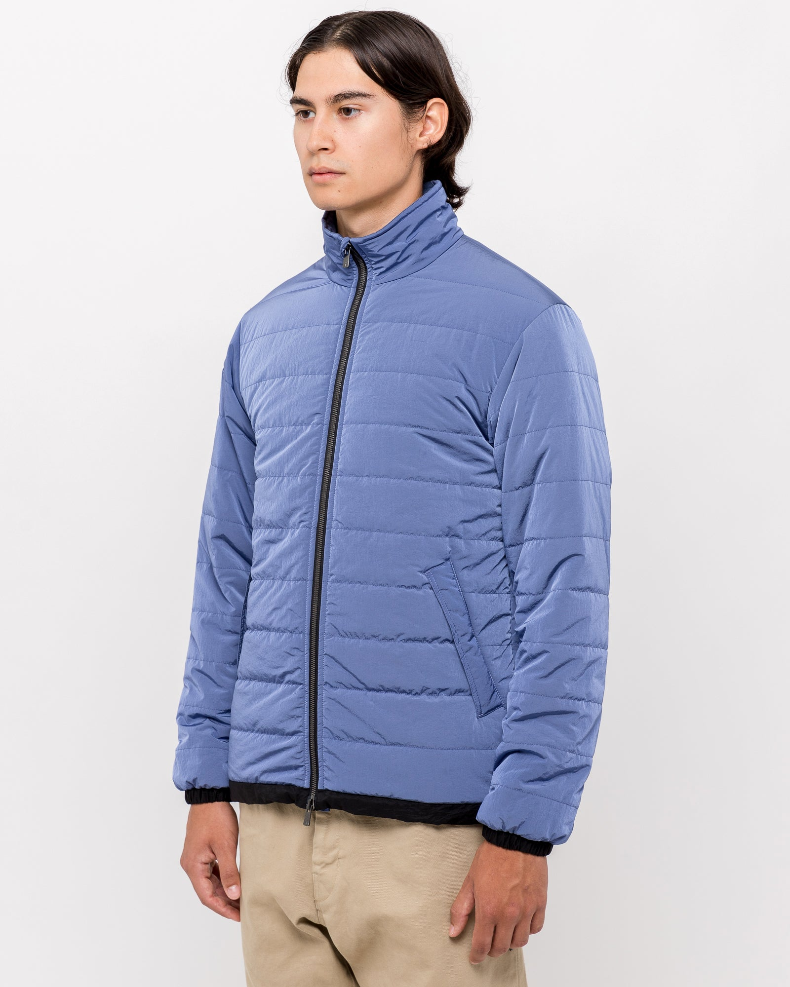 Puffy Coat in Blue