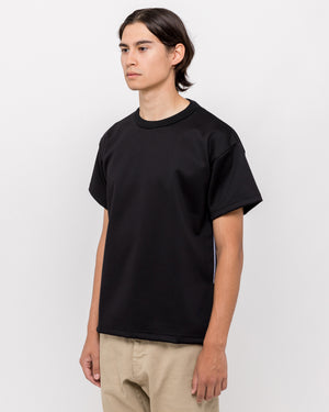 Side Embroidered T-Shirt in Black