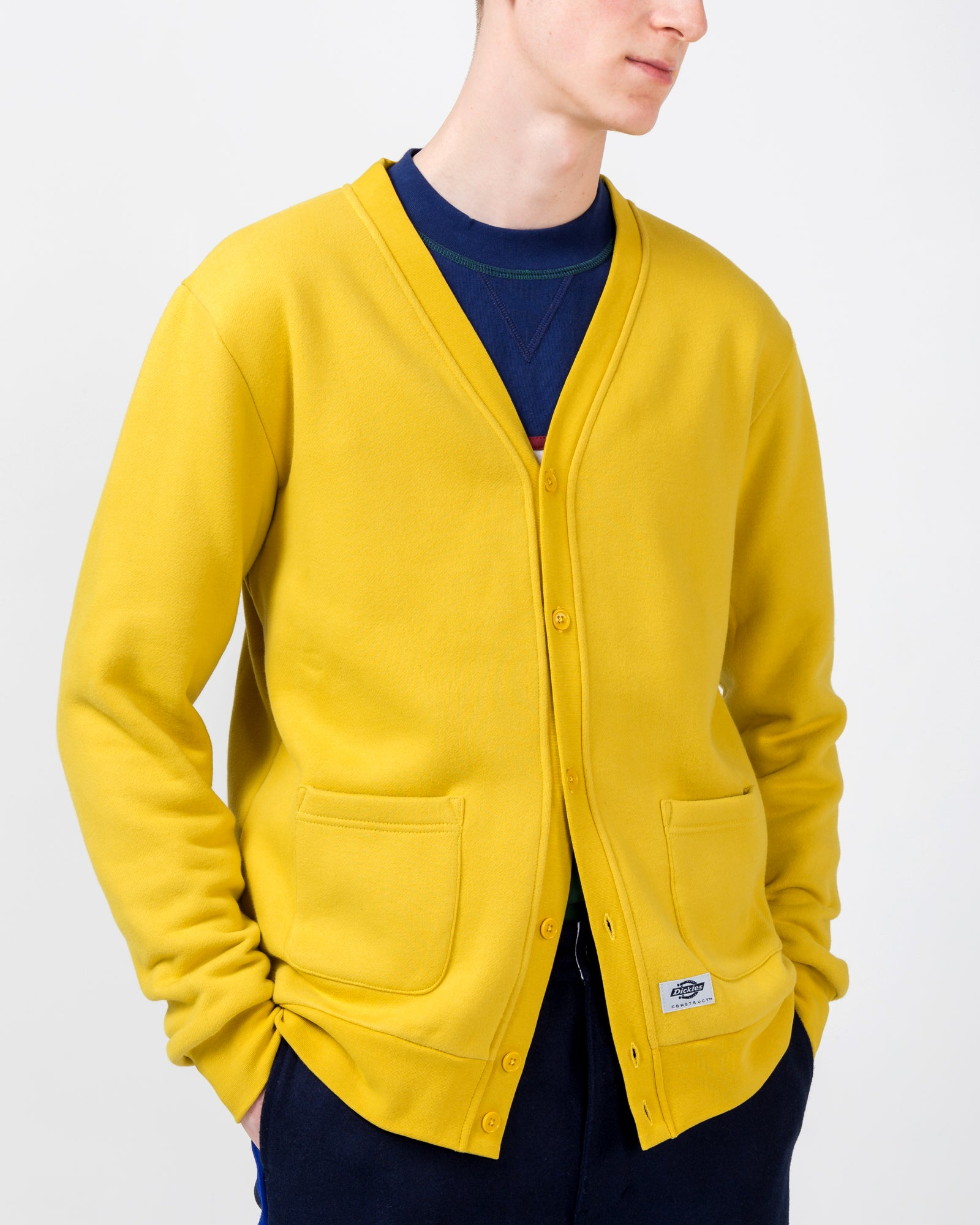 Cardigan in Yellow | Dickies Construct