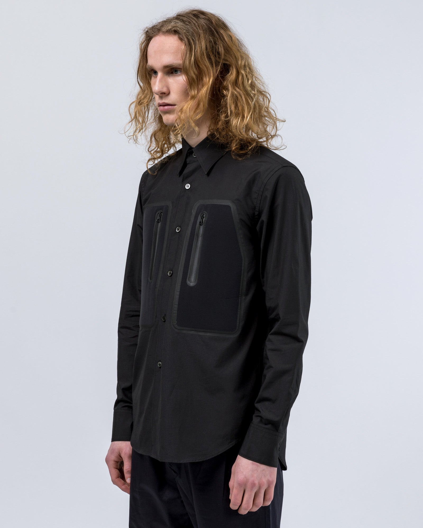 Neoprene Pocket Shirt in Black