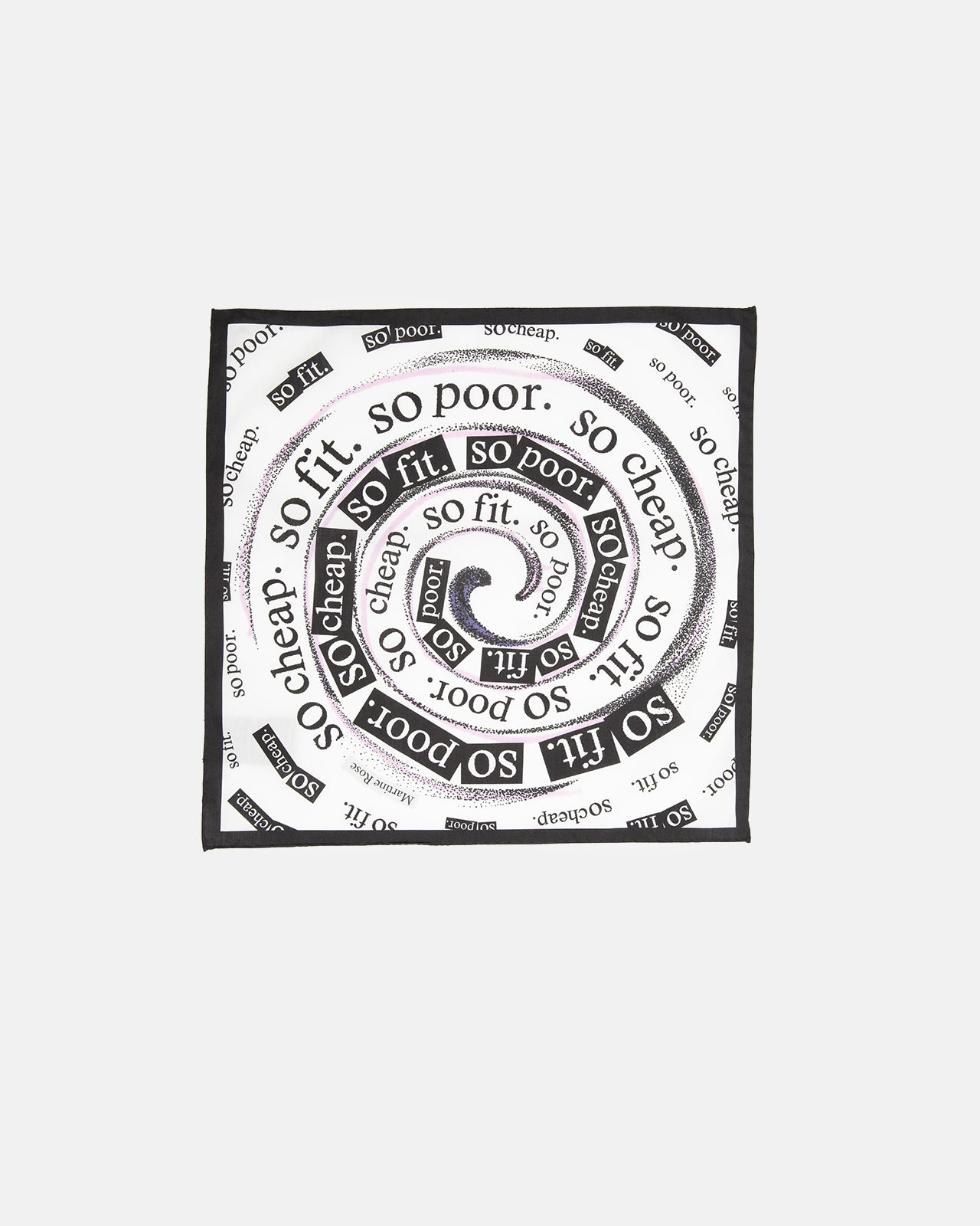 Lynford Handkerchief in Black & White