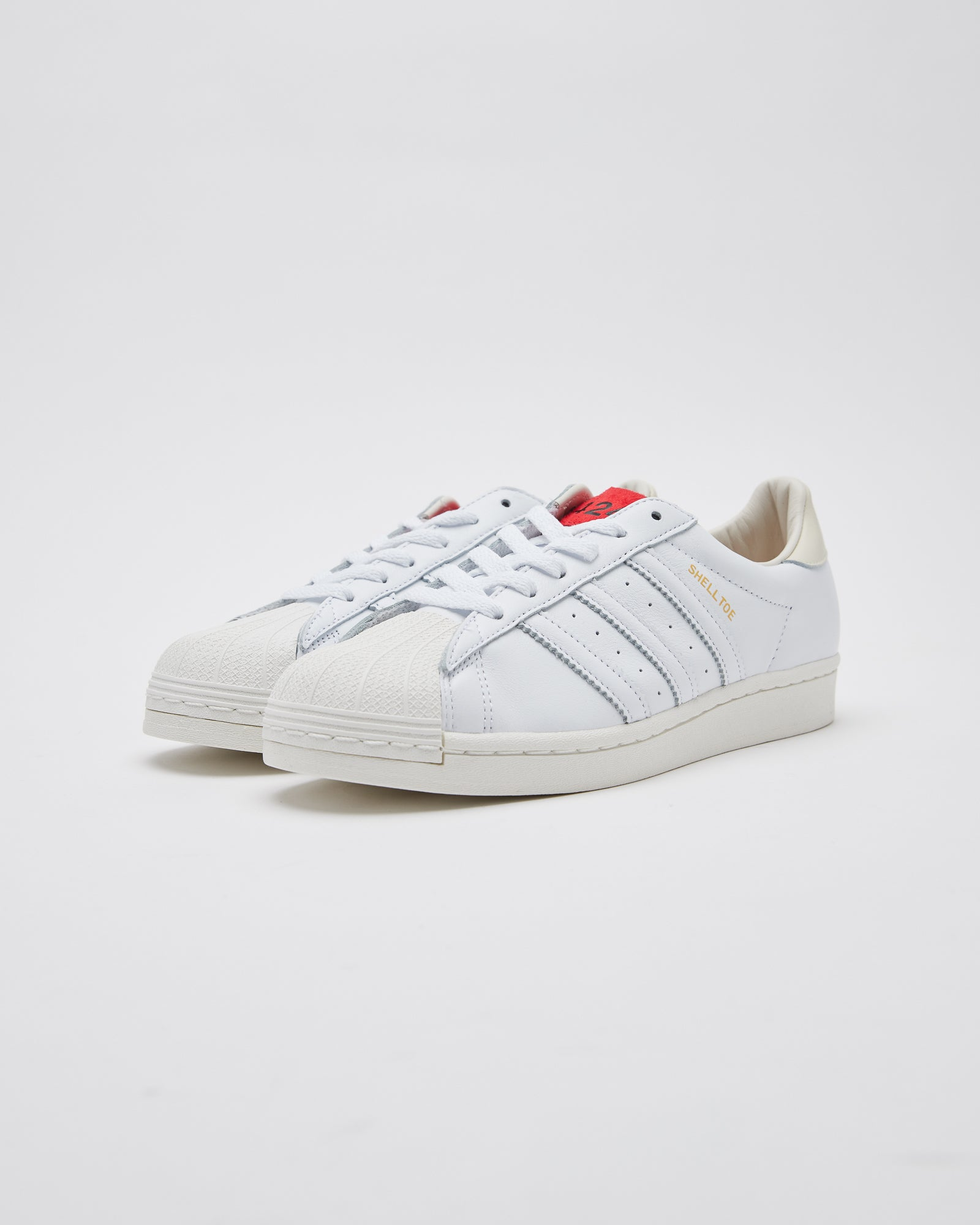 424 Shelltoe in Chalk White/Scarlet
