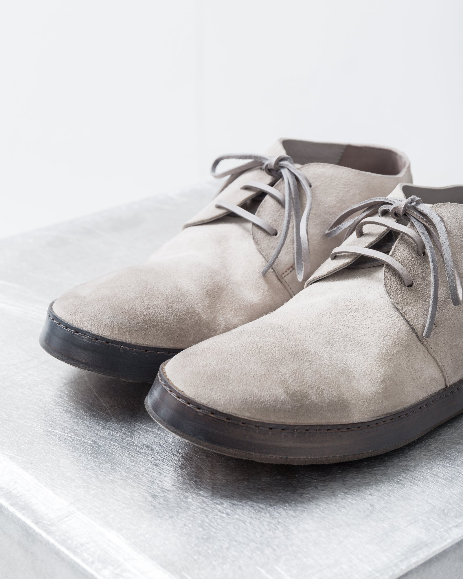 Man Shoes Goat Slate in Gray | Marsell