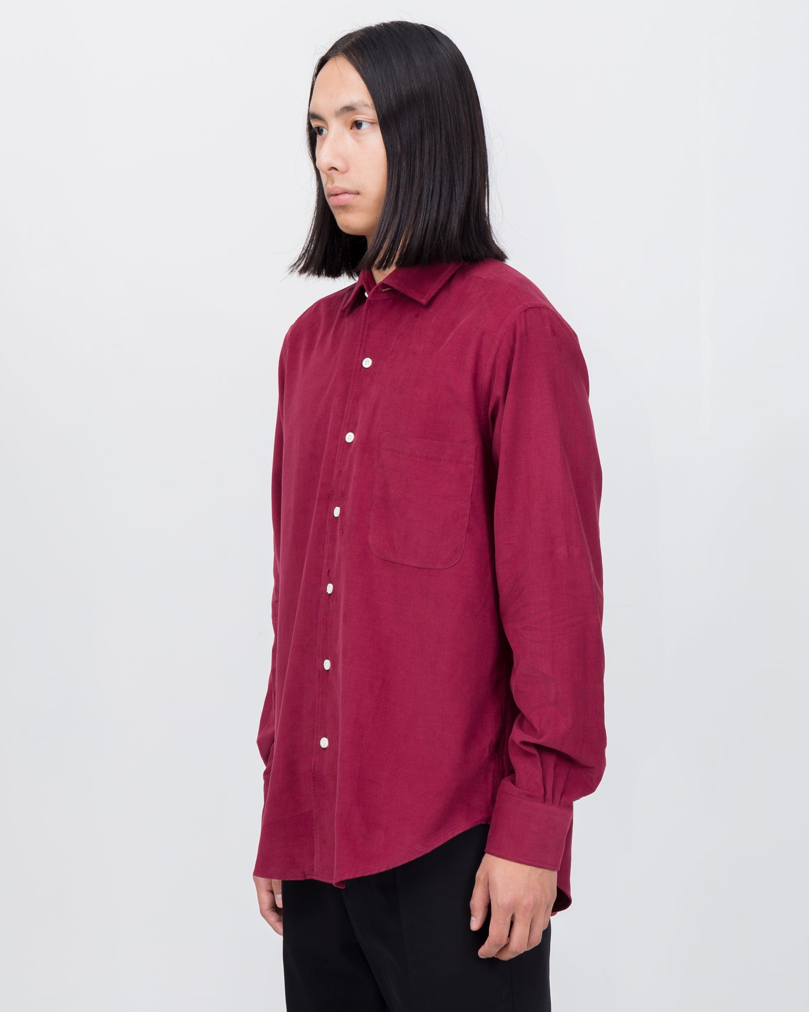 Replica Shirt in Crimson Micro Cord | Cobra S.C.