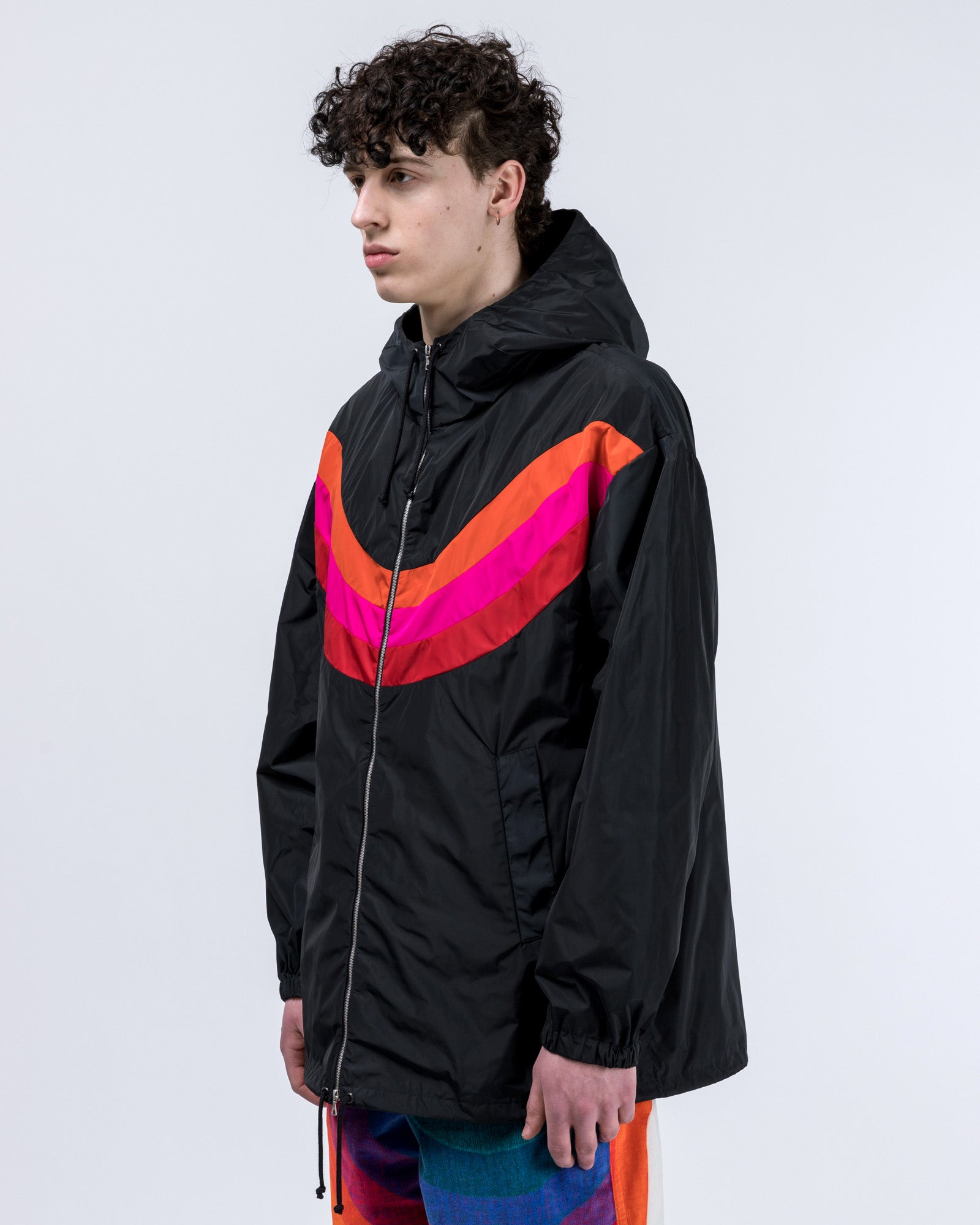 Vence Jacket in Navy / Pink