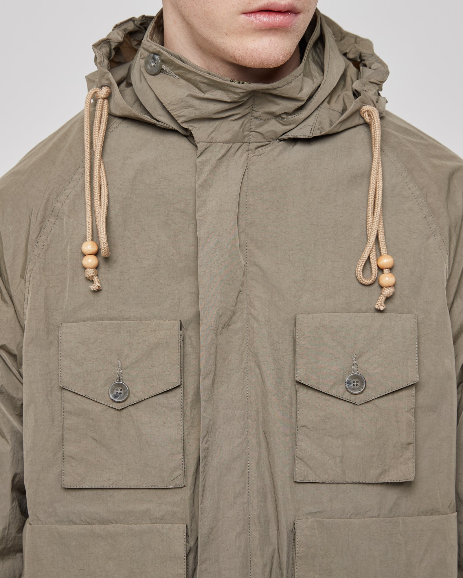Script Hunter Jacket in Taupe