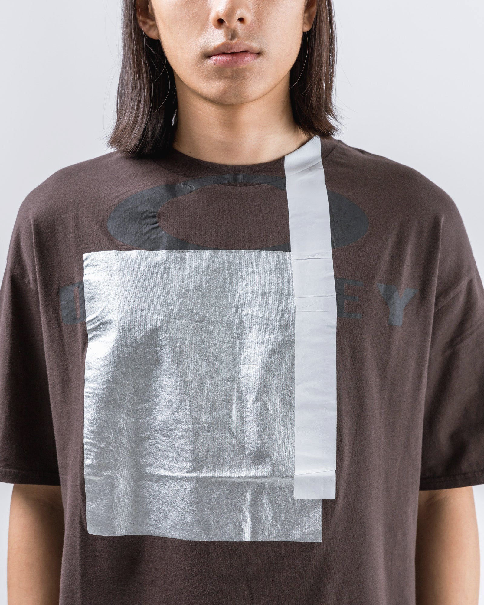 Multifabric T-Shirt in Brown | Oakley by Samuel Ross