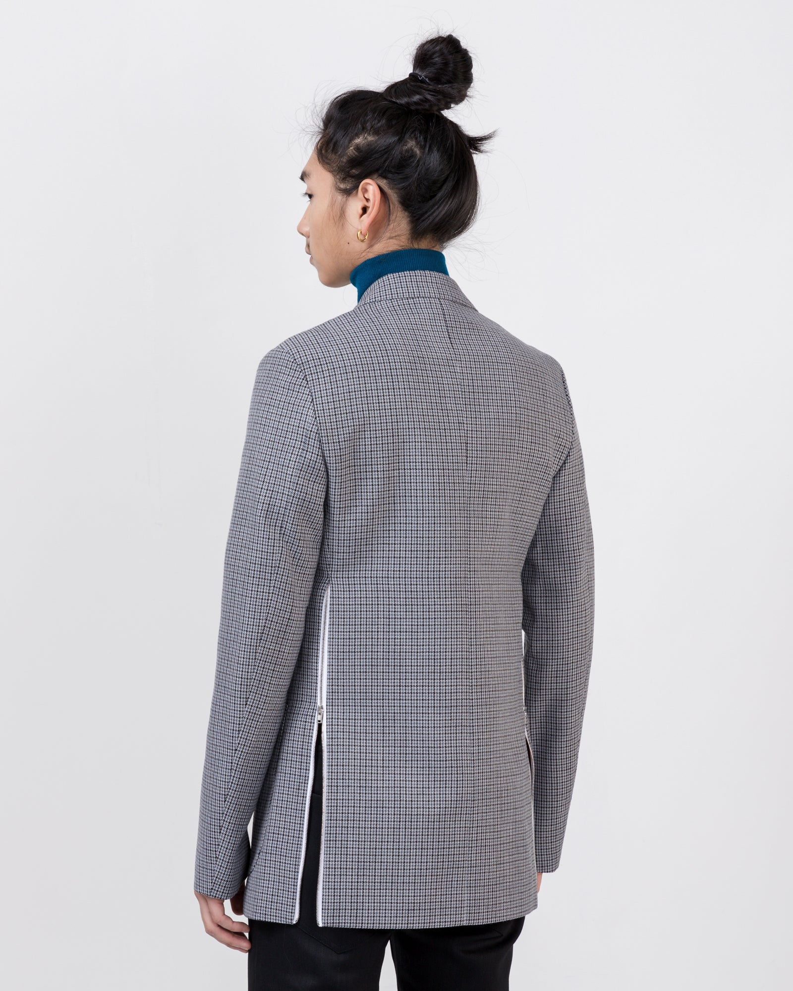 Blazer with Zips in Gray