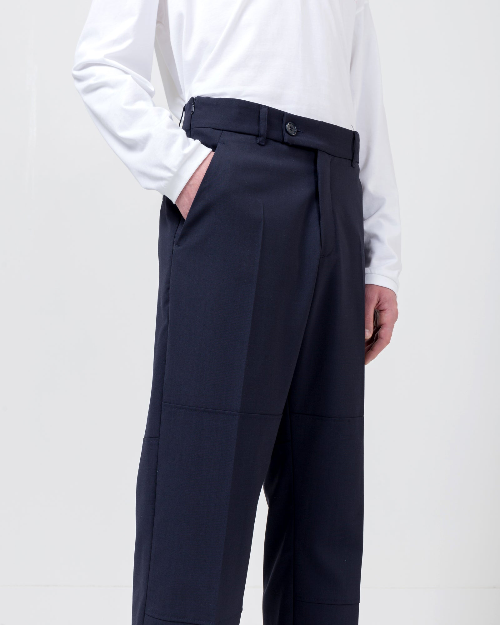 Elasticated Trouser in Navy | Martine Rose