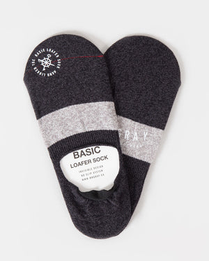 Border Melange Loafer Sock