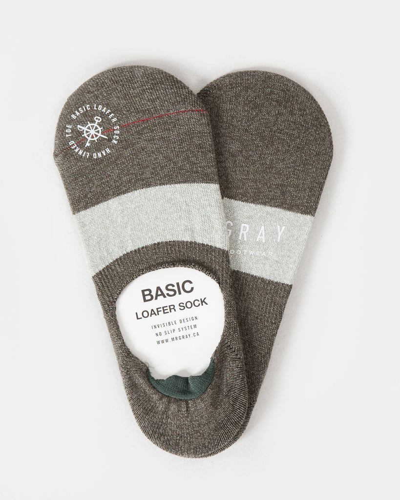 Border Melange Loafer Sock | Mr. Gray