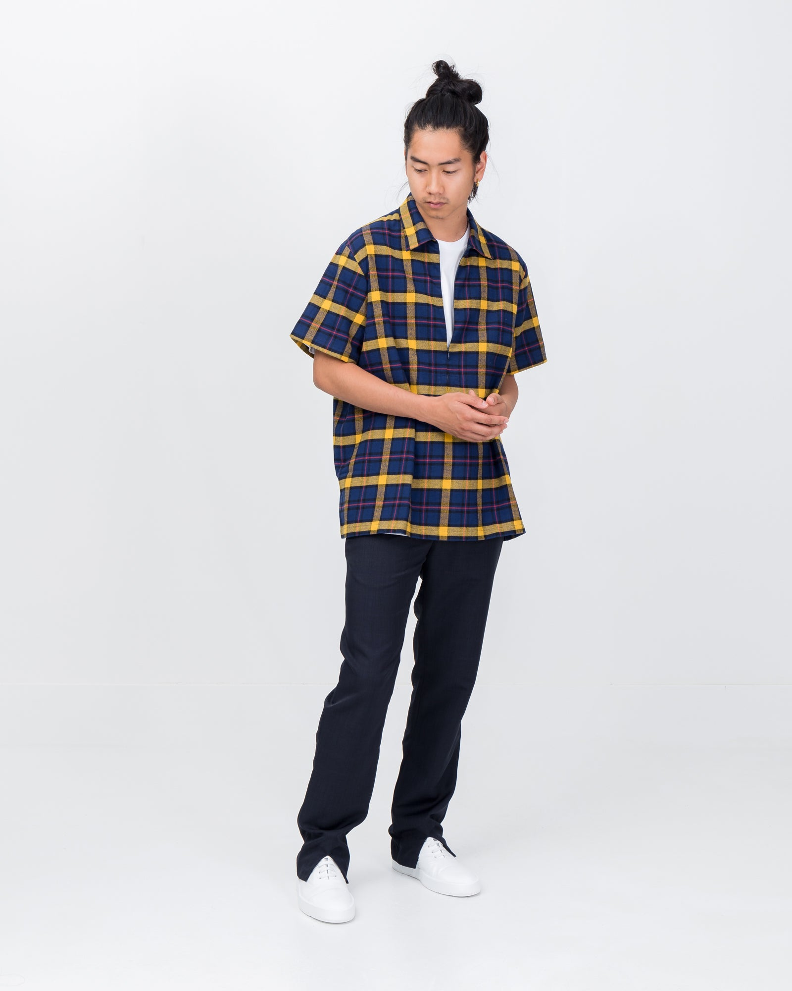 Sunday's Best Trousers in Navy Plaid | Goodfight