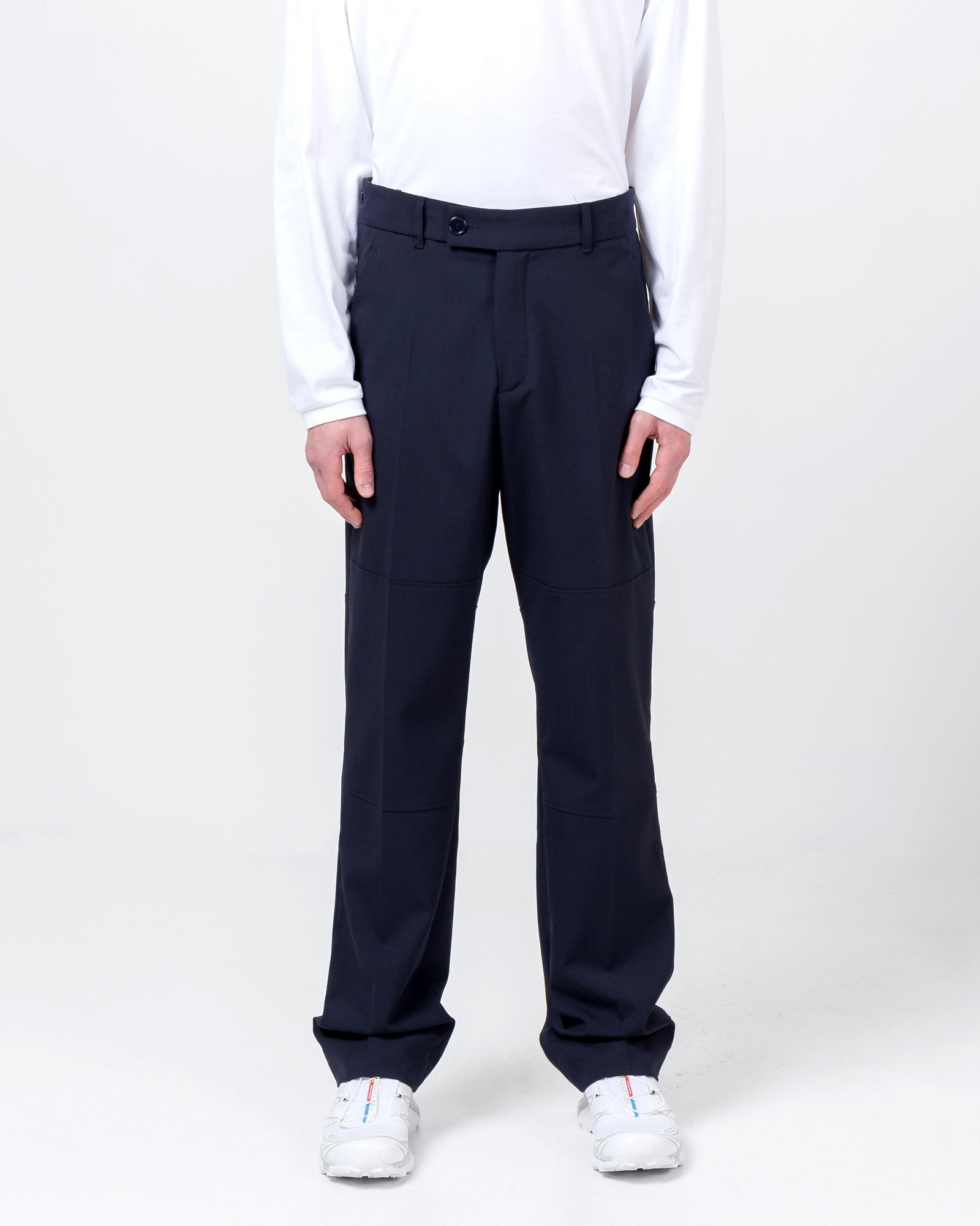 Elasticated Trouser in Navy