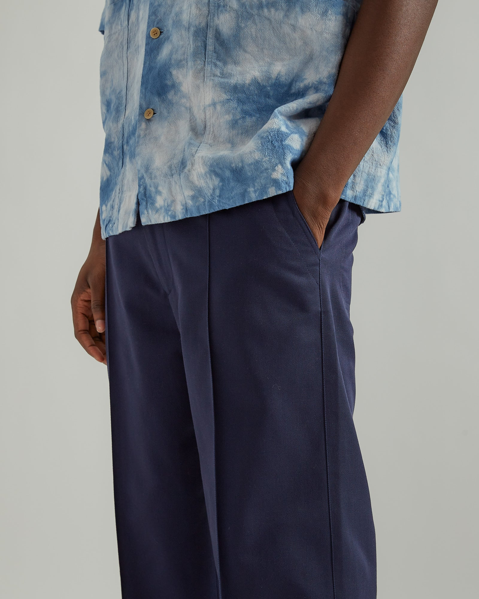 70's Trousers in Navy