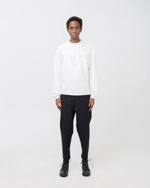 Captain Crewneck in Off White