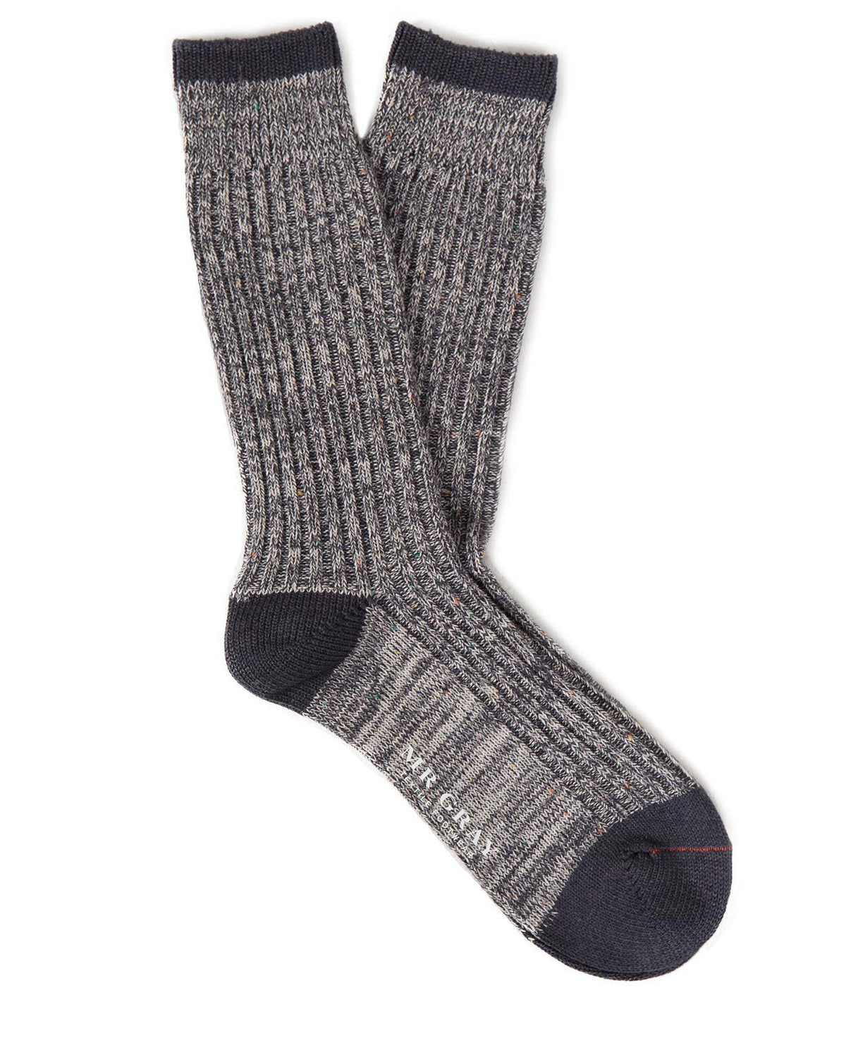 Heavy Nep Rib Sock in Charcoal