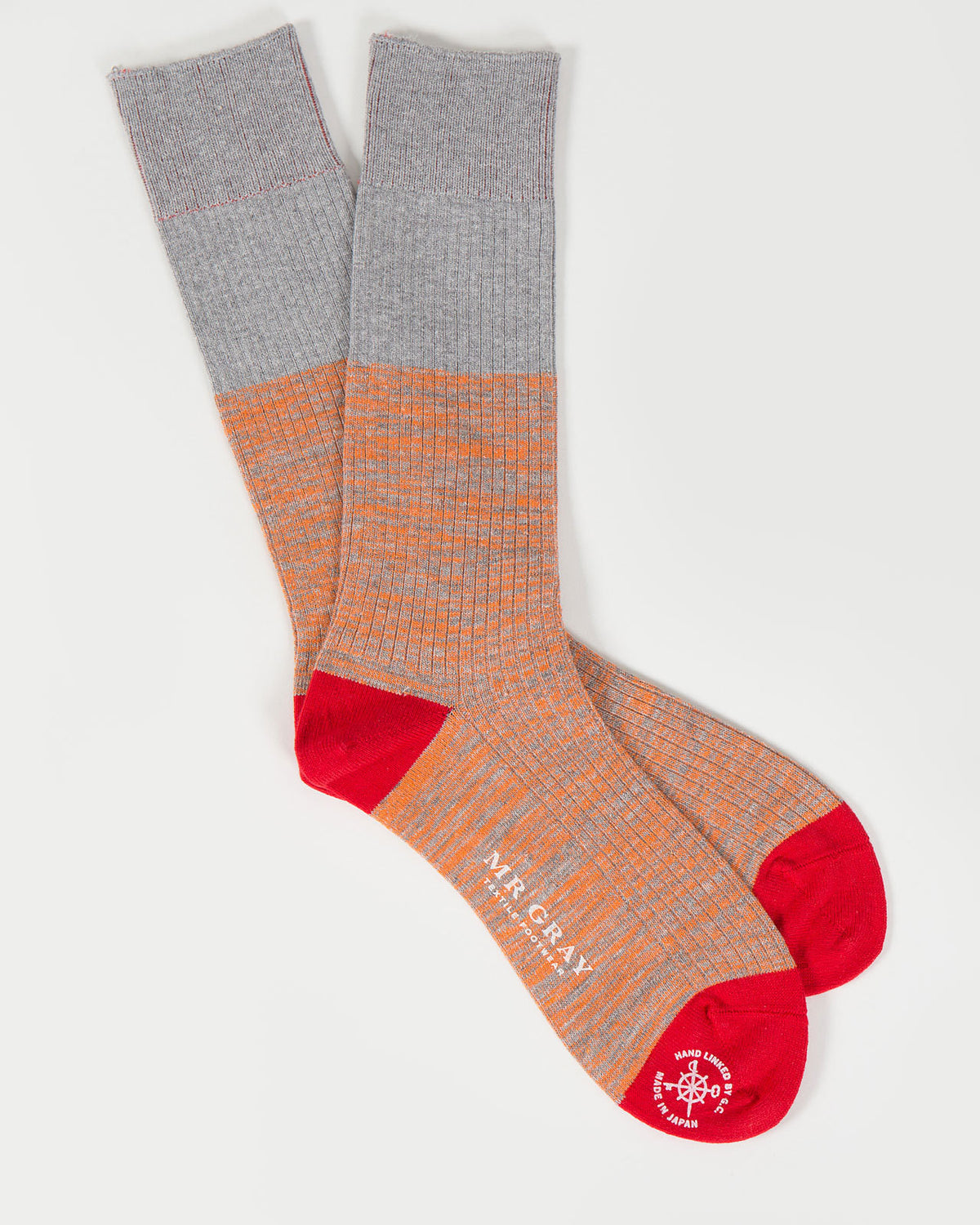 Reverse Hi-Vis Melange Sock in Orange