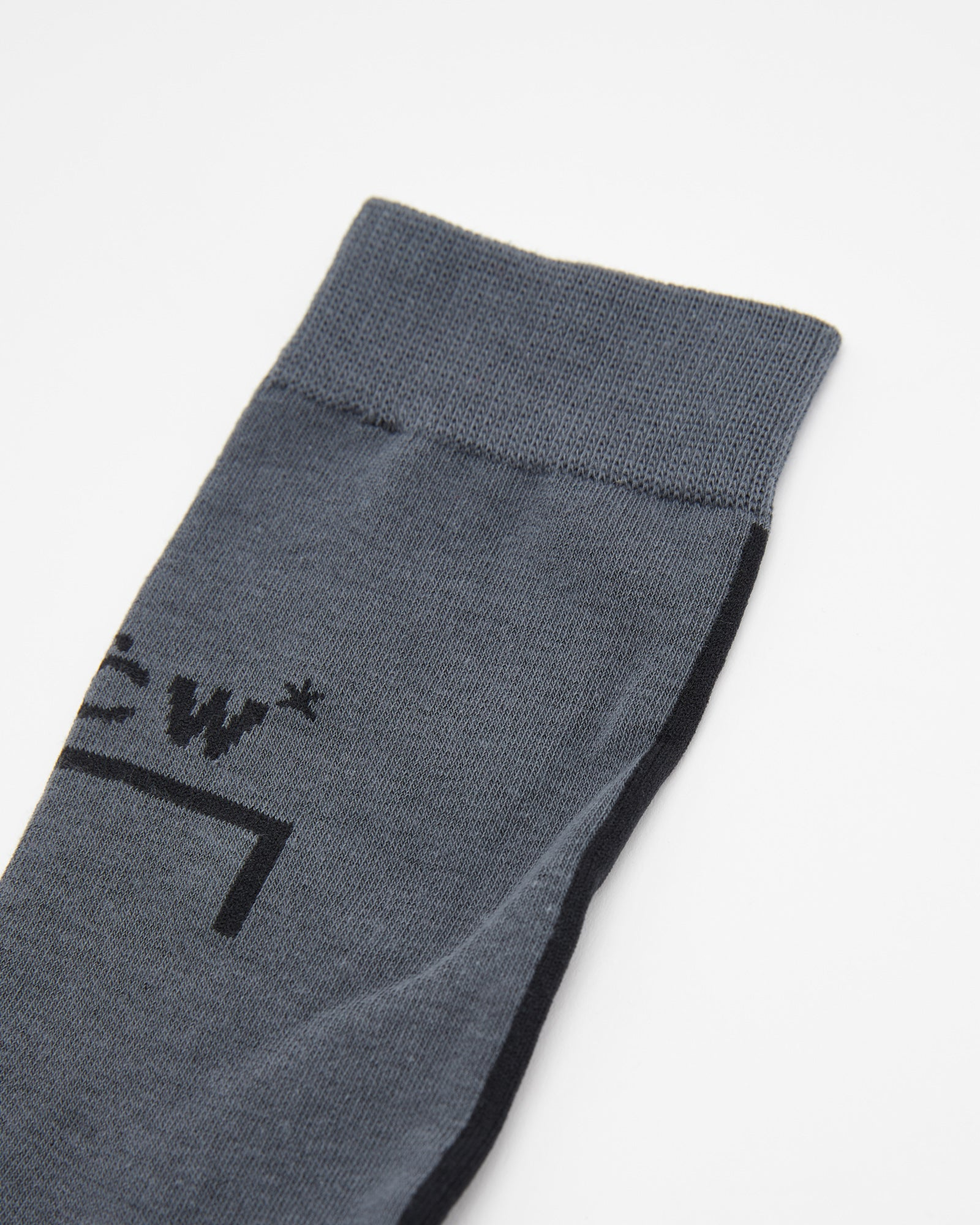 Block Logo Sock in Charcoal
