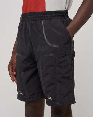 Bracket Taped Track Shorts in Black