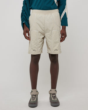 Bracket Taped Track Shorts in Moon Beam
